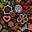 Floral seamless pattern with flowers and butterflies. Endless floral texture for textile. — 图库矢量图片 #21009379