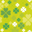 Shamrock seamless pattern. — Stock Vector