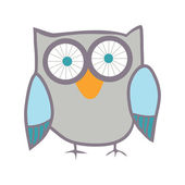 Cute owl. Cartoon bird — Stock Vector