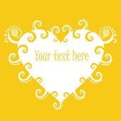 Sunny heart banner — Stock Vector