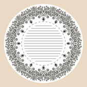 Decorative round lace — Stock Vector