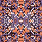 抽象的なシームレスなテクスチャ、カラフルな無限パターン — ストックベクタ