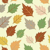 Autumnal seamless leaf pattern — Stock Vector