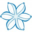 Royalty-Free Stock Vector Image: Original snowflake