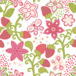 Seamless Pattern with a strawberry - Stock Vector