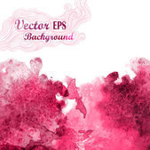 Vector wave in watercolor technique.Grunge background.Drop red abstract watercolor looks like wine splash — Stock Vector