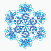 Ornamental round lace, snowflake — Stock Vector