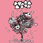 Original valentine tree — Stock Vector #21081857