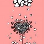 Original valentine tree — Stock Vector #21082053