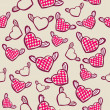Romantic  seamless pattern with hearts — Imagen vectorial