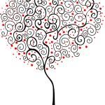 Heart shape tree — Stock Vector #21082227