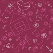 Vetorial Stock : Romantic seamless pattern