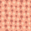 Floral endless pattern in orange. — Imagen vectorial