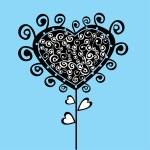Romantic flower, Valentine's Day tree — Stock Vector #21082561