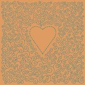 Ημέρα του Αγίου Βαλεντίνου ρομαντική κάρτα — Διανυσματικό Αρχείο