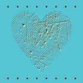 Ilustração em vetor do coração — Vetorial Stock