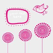 Romantic wallpaper with place for your design — Vecteur