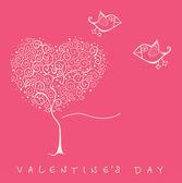 Valentine's day card. Vector version is in my portfolio — Stockvector