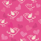 Romantic seamless pattern. Vector version is in my portfolio. — Stock vektor
