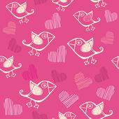 Romantic seamless pattern. Vector version is in my portfolio. — Stock Vector
