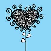 Romantic flower, Valentine's Day tree — Stock Vector
