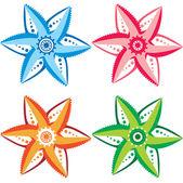 あなたのデザインのための元の花のセット — ストックベクタ