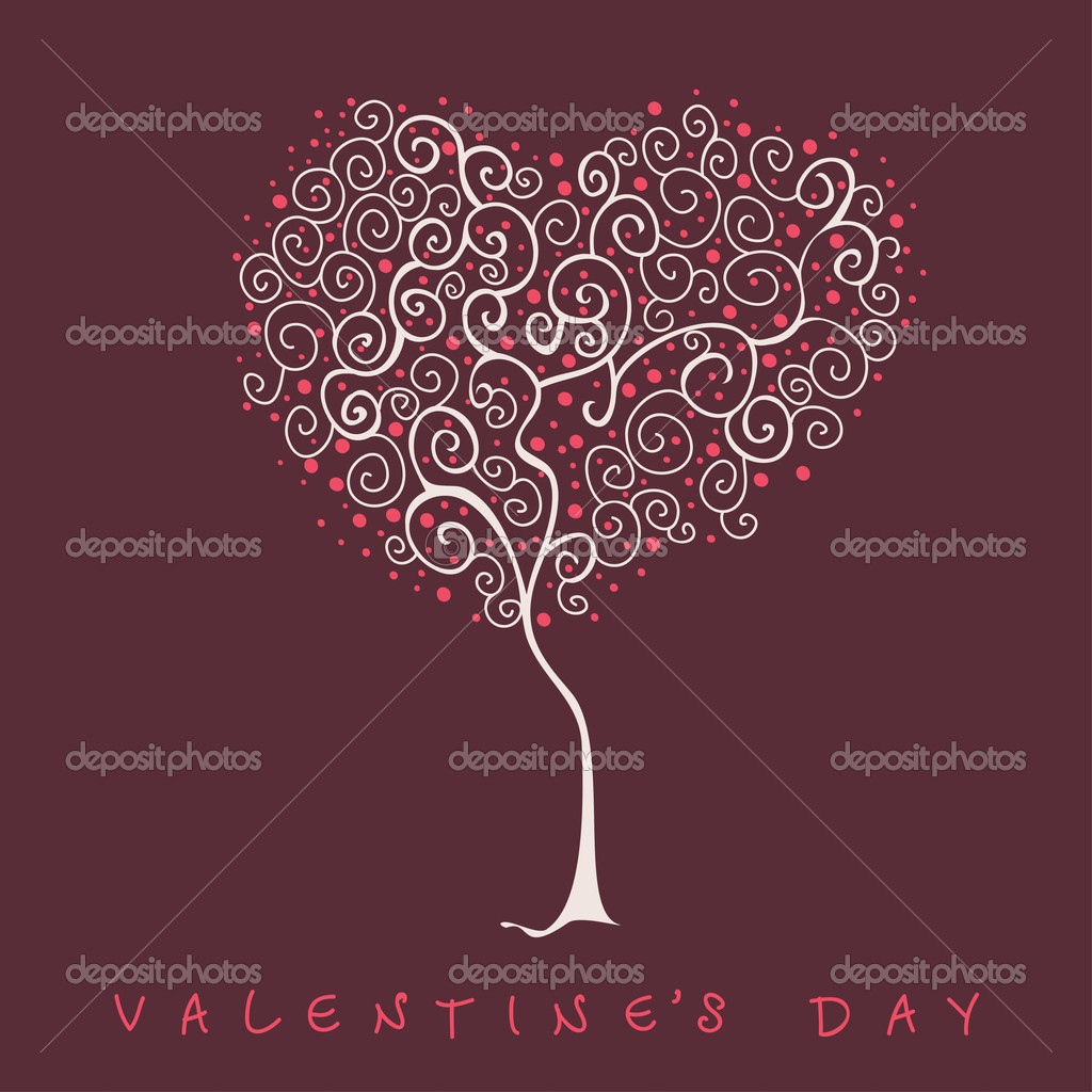 Heart shape tree  Stock Vector #21082359