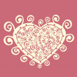 Romantic greeting card. — Stockvectorbeeld