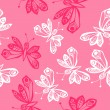Romantic butterfly seamless pattern. — Stock Vector