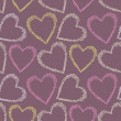 Romantic seamless pattern with hearts. — Image vectorielle