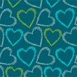 Romantic seamless pattern with hearts. - Imagen vectorial