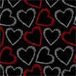 Romantic seamless pattern with hearts. — Imagen vectorial
