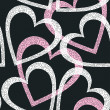 Romantic seamless pattern with hearts. - Vettoriali Stock