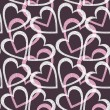 Romantic seamless pattern with hearts. — Stock vektor