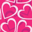 Romantic seamless pattern with hearts. — Cтоковый вектор