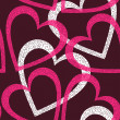 Romantic seamless pattern with hearts. - Grafika wektorowa