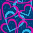 Romantic seamless pattern with hearts. - Stock Vector