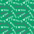 """I love you"" seamless pattern — Stockvector"