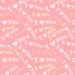 """I love you"" seamless pattern - Stok Vektör"