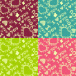 'I love you' seamless pattern.  — Vettoriali Stock
