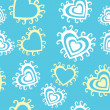 Vector seamless texture with hearts - Stock Vector