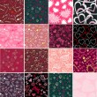 Royalty-Free Stock Vector Image: Romantic seamless patterns. Valentine\'s day textures.