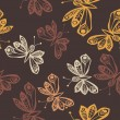 Romantic butterfly seamless pattern. — ベクター素材ストック