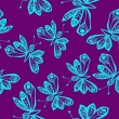 Royalty-Free Stock Vector Image: Romantic butterfly seamless pattern.