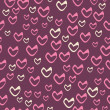 Valentine's Day seamless pattern with hearts. — Stock Vector