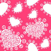 Romantic seamless pattern with hearts. — Vector de stock