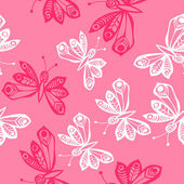 Romantic butterfly seamless pattern. — ストックベクタ
