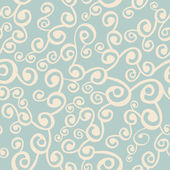 Vector seamless pattern with curly elements — Stock Vector