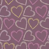 Romantic seamless pattern with hearts. — Stock Vector