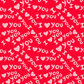 """I love you"" seamless pattern — Vettoriale Stock"
